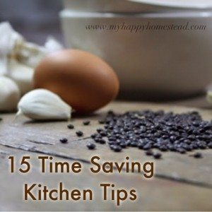 15 Simple Time Saving Kitchen tips from a work at home mom of four
