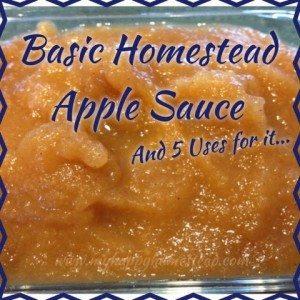 Basic Homestead Applesauce Recipe