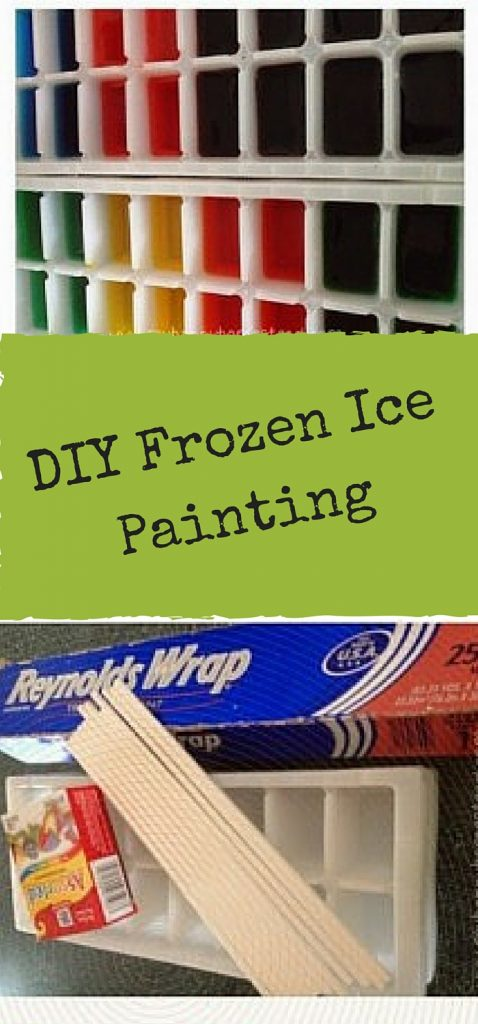 DIY Frozen Ice Paints- Summer is just around the corner keep their little hands busy with this multi-sensory activity