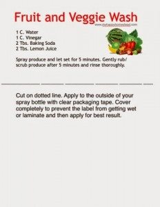Fruit, Veggie, Natural, Cleaner, Home, DIY