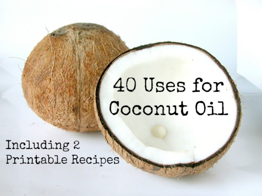 40 Uses for Coconut oil; many uses for coconut oil from cooking to cosmetics - how many of these have you tried?