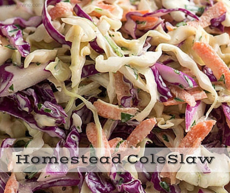 Homestead Cole Slaw Recipe - quick-easy-great for summer dinners - and backyard- bbq