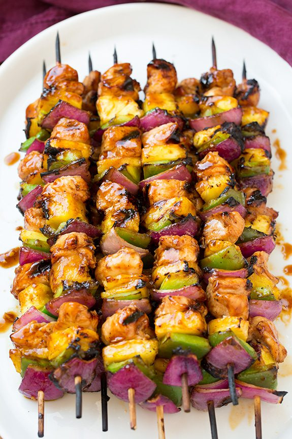 hawaiian-chicken-kebabs- Get your grill on for Fathers Day