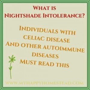 What is a nightshade - nightshade intolerance, what is it, nightshades in the garden, a celiac and gluten free intolerance must read
