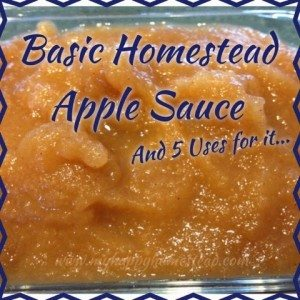 Basic Homestead Applesauce Recipe