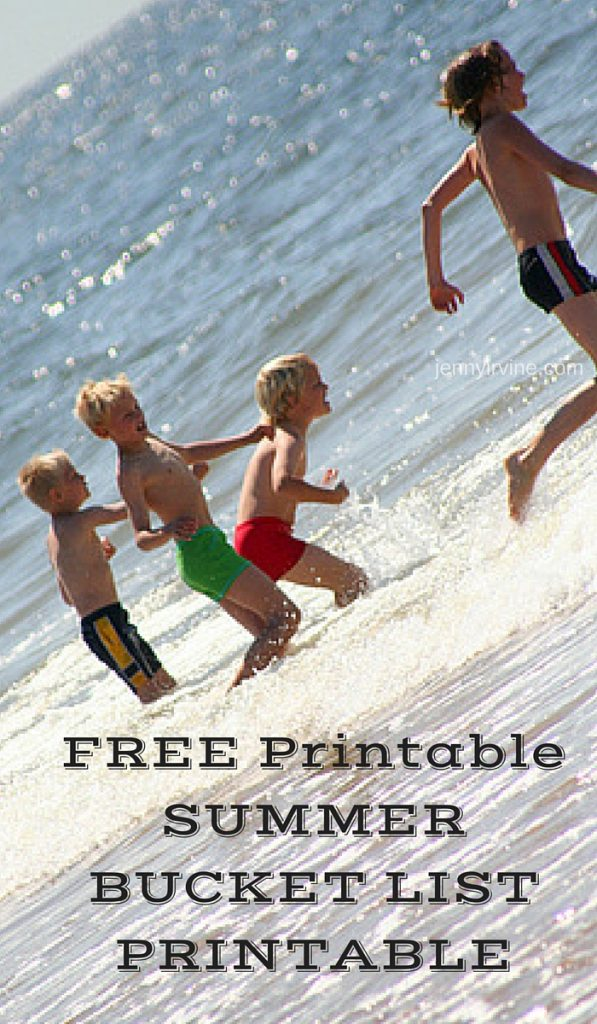 FREE Printable SUMMER BUCKET LIST PRINTABLE
