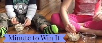 Minute to Win It Challenge - Games for Kids...Great way to keep kids busy during summer, and winter