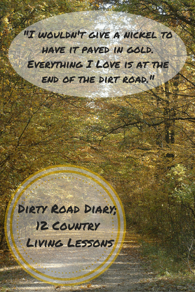 %22I wouldn't give a nickel to have it paved in gold. Everything I Love is at the end of the dirt road.%22