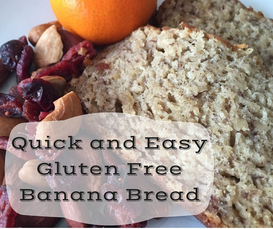 Quick and Easy Gluten Free Banana Bread