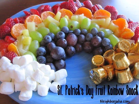 fruit rainbow with words